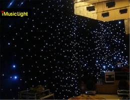 $enCountryForm.capitalKeyWord Australia - 4Mx6M Stage Drape LED Star Cloth Portable Curtain White Leds With Controller