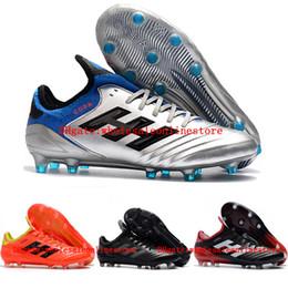 Venta al por mayor de 2018 nueva llegada para hombre de cuero botines de fútbol Copa 18.1 FG zapatos de fútbol copa mundial 18 chaussures de botas de fútbol scarpe calcio original