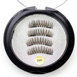 eyelash wholesalers china NZ - Fake Eyelashes Hot 3D Double Magnetic Eyelashes Magnet Half Full Strip Glue Free 2 Magnet Eyelashes Handmade False Eyelash Supplier China