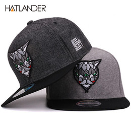 62919f4cc32 Hatlander 3d Devil Eyes Baseball Caps Retro Gorras Hats Planas Chapeau Flat  Bill Hip Hop Snapbacks Caps For Men Women Unisex