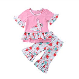 Steady Cute Fashion Newborn Kid Baby Girl Easter Bunny Clothes Cotton Top T-shirt Skirt Strap Dress Outfits Girls' Baby Clothing Clothing Sets