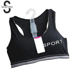 91d0269cdc Senza Fretta Women Bra Fitness Tank Tops Fashion Girl s Casual Bra Padded  Women Vest Letter Printed Crop Top NYB7452