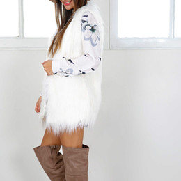070cc4b71e7 2017 winter white fur vest women warm coat faux fur jacket outwear  waistcoat elegant sleeveless plus size Cardiga cape XXXL