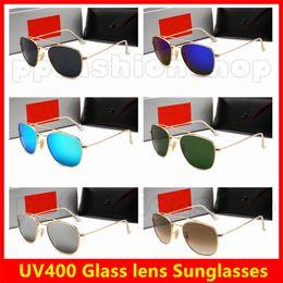 Glasses Sun Protection Australia - New Model Glass Metal Cycling Sun Glasses Designer Sunglasses Women Men Fashion Outdoors Sunglasses UV Protection Goggles 6 Colors