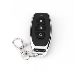 Wireless Door Key Australia - 433MHz Wireless Metal 3 Key Garage Door Duplicator Learning Code Key Fob Control DC 6V Universal Copy Auto Car Alarm System