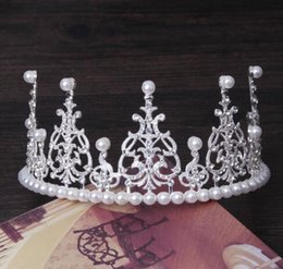 Bridal Makeup Wedding NZ - The same bridal headwear, birthday crown ornament, pearl jewelry and makeup wedding cake crown, free shipping.