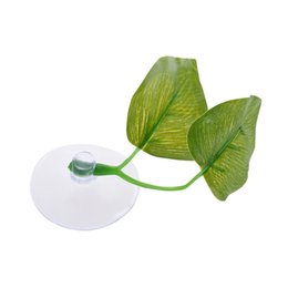 Fish Bedding UK - Artificial Plant Leaf Betta Hammock Fish Rest Bed Tropical Saltwater Fish Aquariums Supplies Including 2 Leaves