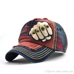 4489bd50846 Fashion Baseball Caps Unisex Fist Embroidery Snapback Rivet Leisure Hats  Letter Printing Caps For Men Women