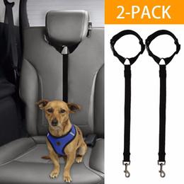 Clip Nylon Dog Collar Australia - Adjustable Pet Dog Car Seat Belt Universal Pet Dog Car Travel Safety Seat Belt Clip Lead Adjustable Safety Harness Auto Traction
