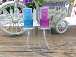 clear spray bottles wholesale NZ - free shipping Travel size 30ml airless pump bottle cosmetic plastic spray bottles Clear PET Refillable perfume bottles