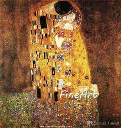 artists abstract figures NZ - oil painting reproduction of famous artist gustave klimt Kiss painting canvas art discount wall decoration quotes decoration home