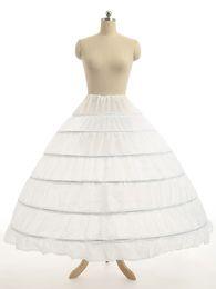 Chinese  Super Cheap Ball Gown 6 Hoops Petticoat Wedding Slip Crinoline Bridal Underskirt Layes Slip 6 Hoop Skirt Crinoline For Quinceanera Dress manufacturers