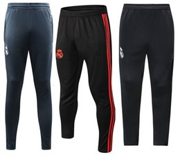 China 18 19 Real Madrid Long Pants Adults Soccer Long Trousers Sports Training Soccer Shorts 2018 2019 Juventusing Soccer Trousers Football Wears supplier soccer trousers suppliers