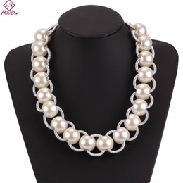 Wholesale Heeda Kpop Big Name Ripple Pearl Necklace Autumn Winter New Hand Made Rope Chain Short Stand Neck Jewelry Accessories Women