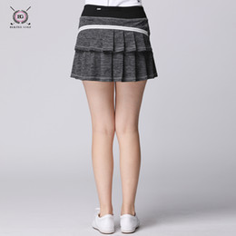 Wholesale Bg golf skirts sports clothes ladies short skirt women s summer elastic culoes skirt with shorts inside red grey blue S XL top