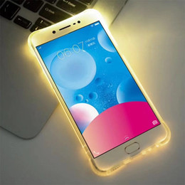 $enCountryForm.capitalKeyWord NZ - For iPhone X 6 6s 7 8 Plus Call Lightning Flash LED Light Up Phone Case For Samsung Galaxy S7 S8 Plus Edge Note 8