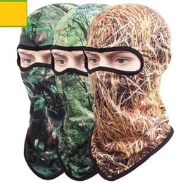 Face Mask For Protection Australia - Quick-drying Camouflage Cycling Full Face Mask Camo Headgear Balaclava Neck Protector for Hunting Fishing Camping UV Protection Mask