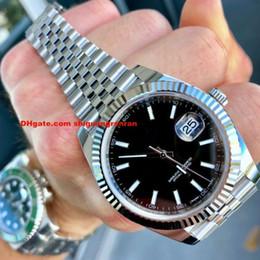 Venta al por mayor de 9 Colores Relojes para hombre Serie Clásica 41 mm 126334 Datejust Negro Dial de índice 2813 movimiento automático de la marca de lujo Jubilee acero Relojes de pulsera