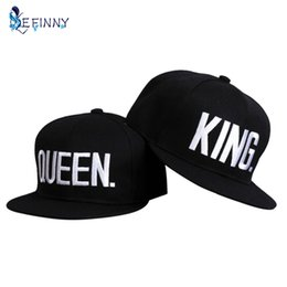 Couple Summer Baseball Cap KING QUEEN Letters Embroidery Snapback Hat  Acrylic Men Women Gifts Hip-hop Caps Hip Hop Mujer d33ec0c1a55b