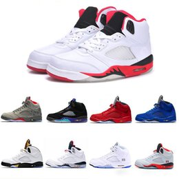 $enCountryForm.capitalKeyWord Canada - Cheap tennis 5 Space Jam White Cement Gold international for Men's basketball shoes ,men sports boot Classic 5 V basketball shoes sneaker