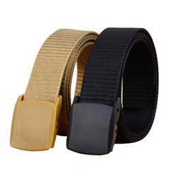 Plastic Belt Men Canada - 10PCS   LOT SINGYOU Canvas Belt for Men Outdoor Casual Quick-dry Nylon Waist Strap Plastic Buckle Belt