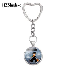 $enCountryForm.capitalKeyWord NZ - 2018 Fashion Cute Umbrella Girl Keyring Mary Poppinsl Key Rings Glass Round Pendant Jewelry Delicate Gifts Silver Keychains
