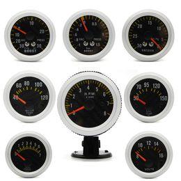 Gauges Pod Australia - 2 inch 52mm Carbon Fibre Face Car boost gauge bar psi water temp oil temp oil press voltmeter tachometer vacuum gauge+Gauge Pods