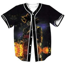 96f486b1c Newest 3D Print Dragon Ball Z Goku Baseball Jersey T Shirt Harajuku Summer  Short Sleeve Button Cardigan Fitness Tops Clothing