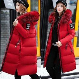 Toptan satış Kış Bayan Uzun Aşağı Ceket Pamuk Ceket Bayanlar Sıcak İnce Kalınlaşmak Parka Kabanlar