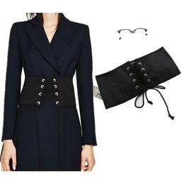 61f57883fe8 Black Faux Suede Lace Up Corset Bandage Womens Waist Belt New Shape-Making  Midriff-Cincher Waist Belt