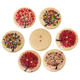$enCountryForm.capitalKeyWord Australia - Natural Tree Pattern Round 2 Holes Natural Wooden Buttons Scrapbooking Sewing Accessories For Craft Random Mixed 3cm 20PCs