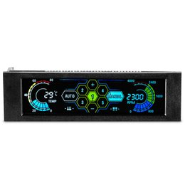 """Bay Pc Australia - Quality 5.25"""" Drive Bay PC Fan Speed Controller Temperature Display LCD Front Panel Speed Controller for Desktop CPU Fan Cooler"""