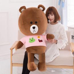 $enCountryForm.capitalKeyWord Canada - New Arrival Giant Brown Teddy Bear 008 Hug Sweater Cloth Dolls Unisex Plush Stuffed Skin Brown Color High Quality Gift Toys