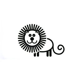 lion head decor 2019 - A Lovely Lion Funny Personality Stickers Art Painting Car Stickers Vinyl Decor Decals Rear Window Car Sticker cheap lion