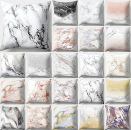 Geometric pillow case cover online shopping - Marble Pattern Geometric Cushion cover Marble Texture Throw Pillow Case Cushion Cover For Sofa Home Decor