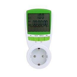 Digitaler Wattmeter Voltmeter tragbarer Stromzähler Tester 230V 50Hz LCD Digital Watt Spannung Strom Frequenz Monitor Analyzer on Sale