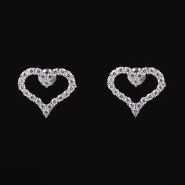 83f9ce4f4b5b 925 Agujas de plata Ear Ears Love Heart Pendientes Oro Plata Cobre Circonio  cúbico Alta Quanlity para el envío de la gota