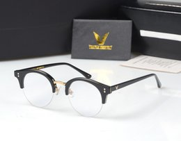 Computer Eyewear Glasses Australia - Gentle Pavana Metal Half Frame Glasses Frame Retro Woman Men Reading Glass UV Protection Clear Lens Computer Eyewear Eyeglass
