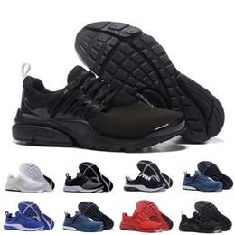 58012e11218 Venta al por mayor Air PRESTO BR QS Breathe Negro Blanco Mens Basketball  Shoes Sneakers Mujeres
