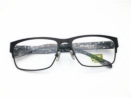 1003567ad807 Jeep Brand Design men half rimless spring hinge top quality optical frame  spectacle frame optical Clear prescription Lenses