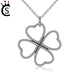 $enCountryForm.capitalKeyWord Australia - Summer New S925 Sterling Silver Petals of Love, Clear CZ Clover Necklace & Pendant For Women Chain Necklace Pandora Gift