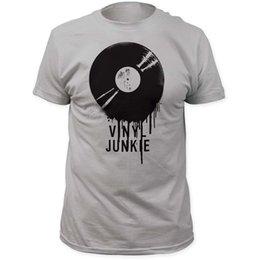 records shirt NZ - Impact Originals Melting Vinyl Record T-Shirt T-Shirt Short Sleeve Brand Sleeve Tops T Shirt Homme Top Tee Plus Size