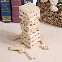 $enCountryForm.capitalKeyWord NZ - Wooden Stacked Model Tower Building Blocks Kids Educational Toys intelligent developing Stacked Building Blocks with Dice