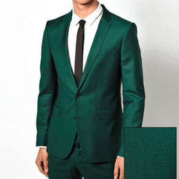 men wedding prom suits groom tuxedos 2019 - 2018 New arrival Custom Made Green Men's Tuxedos slim fit groom mens suits wedding business prom men suits ( jacket