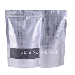 Pack Compression Bags NZ - 20x30cm(8x11.75in) Resealable ziplock food tea candy packing bag Patterned aluminum foil stand up pouch with window 100pcs lot