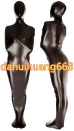 Wholesale mummy catsuit costume for sale – halloween Black Shiny Metallic Mummy Suit Costumes Sleeping Bags Unisex Mummy Costumes Sleeping Bags Outfit Halloween Party Cosplay Costumes DH116