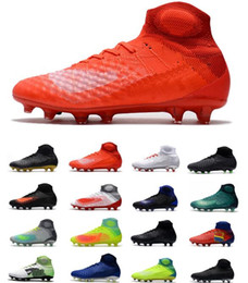 Ice cream boots online shopping - New High Ankle Magista obra II FG Men Top Soccer Cleats D ACC Waterpoof Mens Soccer Shoes Outdoor ICE Suprefly Football Shoes Soccer Boots