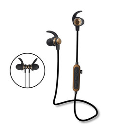 $enCountryForm.capitalKeyWord UK - Wireless Bluetooth headphones Earbuds universal metal Magnetic Earphones Hifi super Bass with Mic TF Card sport running Headset high quality