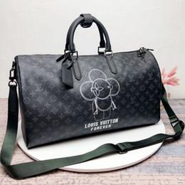 8371a346237b2 Benzer yeni moda erkek kadın Hakiki Deri seyahat çantası duffle çanta  bulmak, marka tasarımcı bagaj