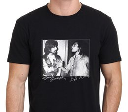 Discount rare clothing - George harrison and Bob marley Rare footage Men's T-Shirt Size S-to-XXL Brand Cotton Men Clothing Male Slim Fit T S
